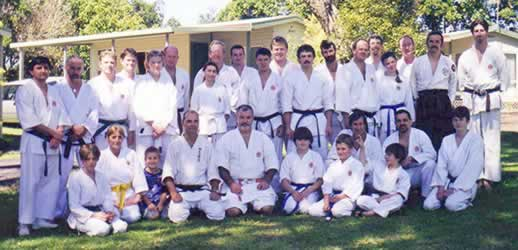 Koryu Bunch of Karate enthusiasts